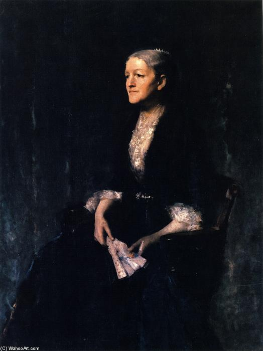 Portrait of Mrs. G (Cornelia Rogers Huntington Greer), Oil On Canvas by William Merritt Chase (1849-1916, United States)