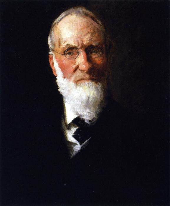 Portrait of My Father, Oil On Canvas by William Merritt Chase (1849-1916, United States)