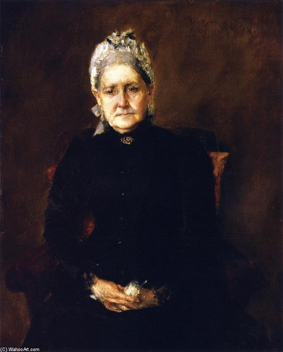 Portrait of My Mother (also known as Portrait of the Artist's Mother), Oil On Panel by William Merritt Chase (1849-1916, United States)