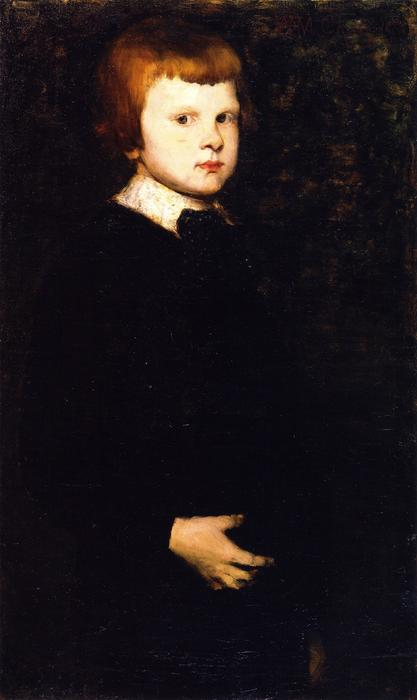 Portrait of Piloty's Son, Oil On Canvas by William Merritt Chase (1849-1916, United States)