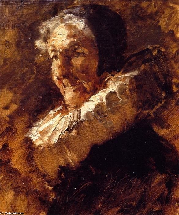 Portrait of a Woman, Oil On Canvas by William Merritt Chase (1849-1916, United States)
