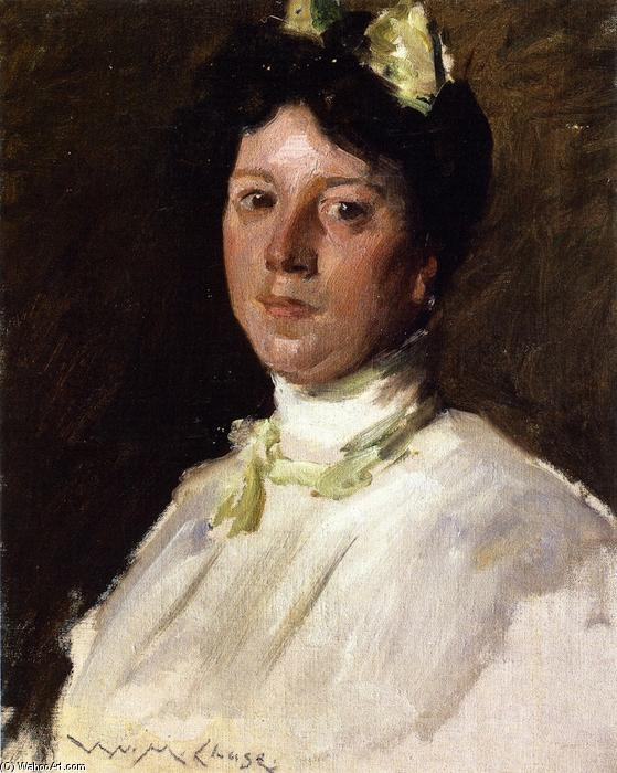 Portrait of a Young Girl, Oil On Canvas by William Merritt Chase (1849-1916, United States)