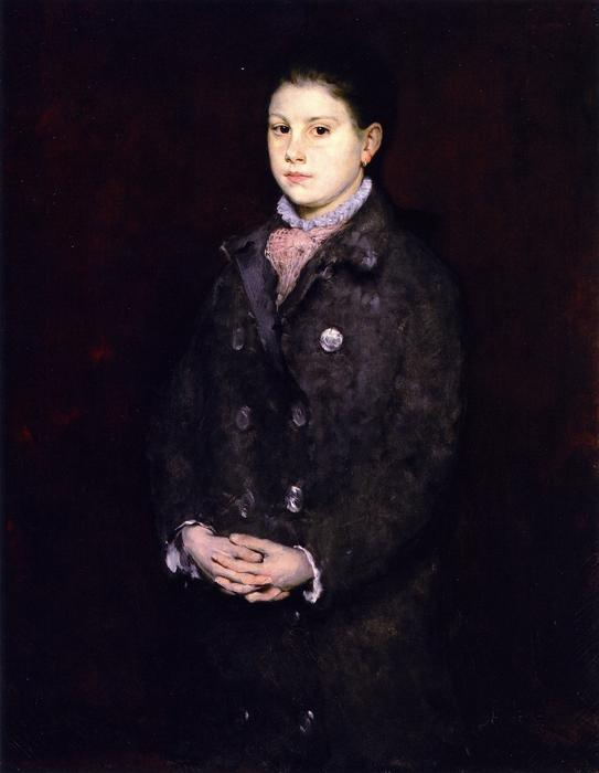 Portrait of a Young Lady, Oil On Canvas by William Merritt Chase (1849-1916, United States)