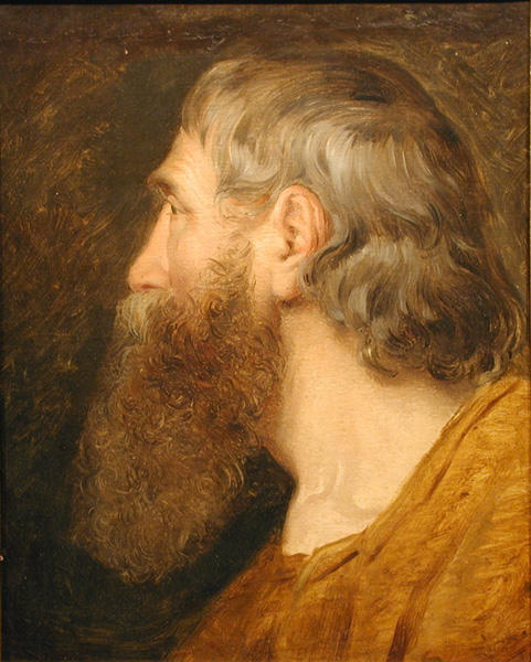 Potrait of a Bearded Man by Friedrich Ritter Von Amerling (1803-1887) | Museum Quality Reproductions | ArtsDot.com