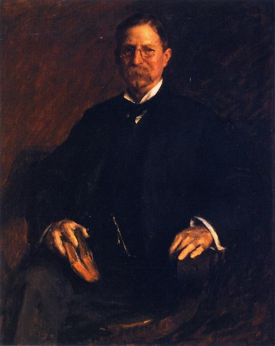 Professor T. U. Taylor, Oil On Canvas by William Merritt Chase (1849-1916, United States)