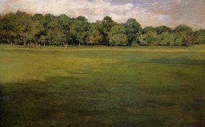 William Merritt Chase - Prospect Park (also known as Croquet Lawn, Prospect Park (-))