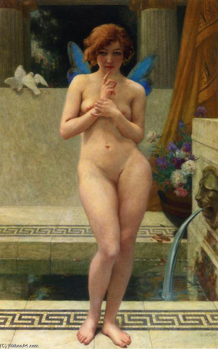 Psyche at a Fountain by Guillaume Seignac (1870-1924, France) | Painting Copy | ArtsDot.com