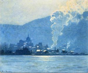 Lowell Birge Harrison - A Puff of Steam