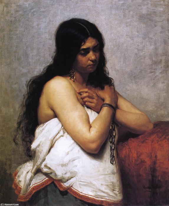 Quadroon Girl, Oil On Canvas by Henry Mosler (1841-1920, Poland)