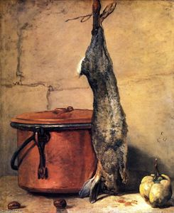 Jean-Baptiste Simeon Chardin - Rabbit with Copper Cauldron and Quince
