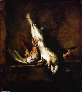 Jean-Baptiste Simeon Chardin - Rabbit with Red Partridge and Seville Orange