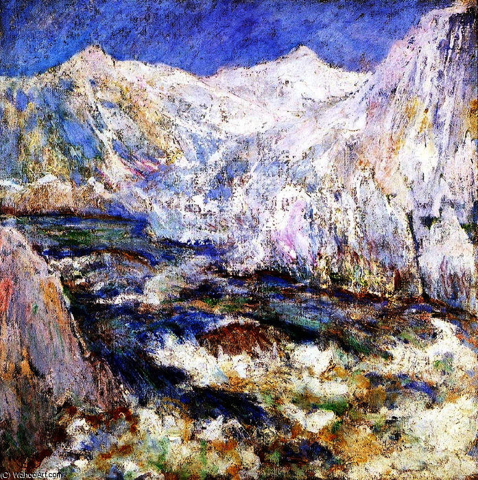The Rapids, Yellowstone, 1895 by John Henry Twachtman (1853-1902, United States) | Art Reproductions John Henry Twachtman | ArtsDot.com