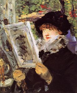 Edouard Manet - Reading (also known as Reading L-Illustre)