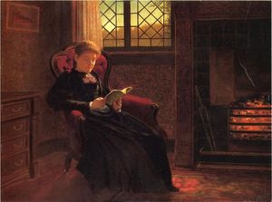 Samuel S Carr - Reading by the Fire