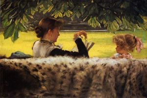 James Jacques Joseph Tissot - Reading a Story