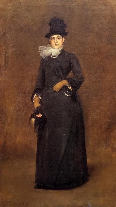 Ready for a Walk: Beatrice Clough Bachmann, Oil On Canvas by William Merritt Chase (1849-1916, United States)