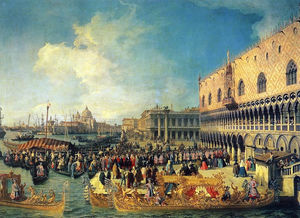 Giovanni Antonio Canal (C.. - Reception of the Imperial..