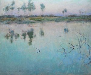 Willard Leroy Metcalf - Reflections at Grez sur Loing