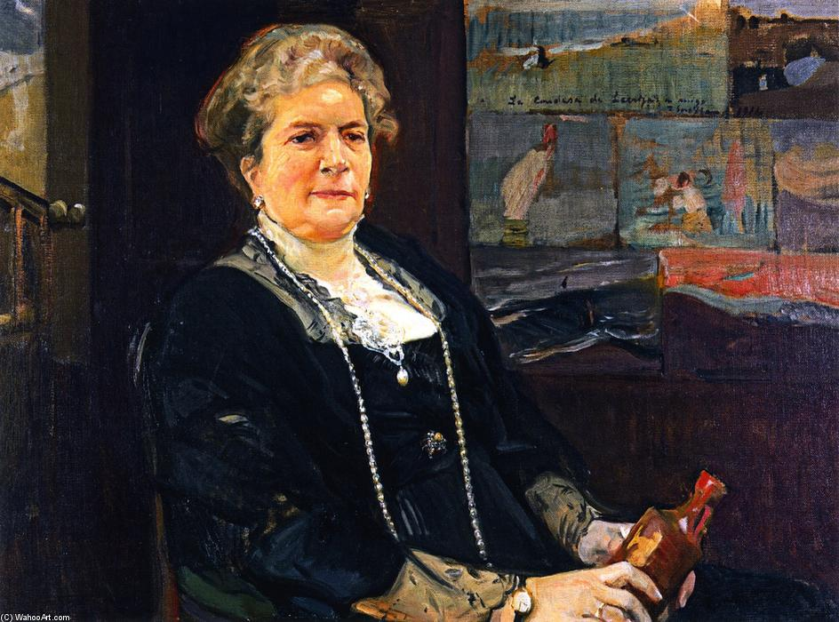 Regla Majon, Countess of Lebrija, Oil On Canvas by Joaquin Sorolla Y Bastida (1863-1923, Spain)