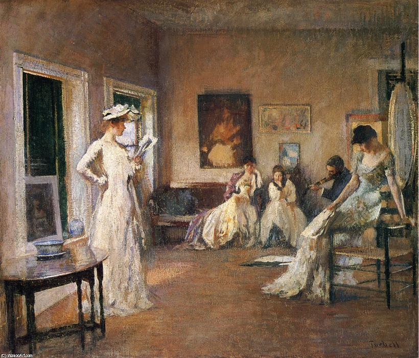 Rehearsal in the Studio, 1904 by Edmund Charles Tarbell (1862-1938, United States) | Painting Copy | ArtsDot.com
