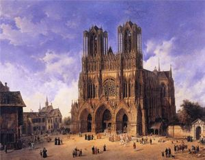 Domenico Quaglio - Reims Cathedral