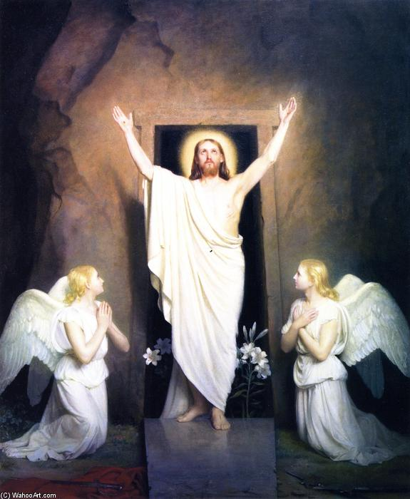 The Resurrection, Painting by Carl Heinrich Bloch (1834-1890, Denmark)