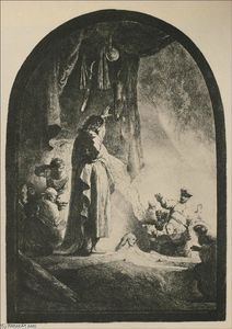 Rembrandt Van Rijn - The Resurrection of Lazurus, a Large Print