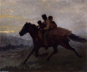 Jonathan Eastman Johnson - A Ride for Liberty - The Fugitive Slaves