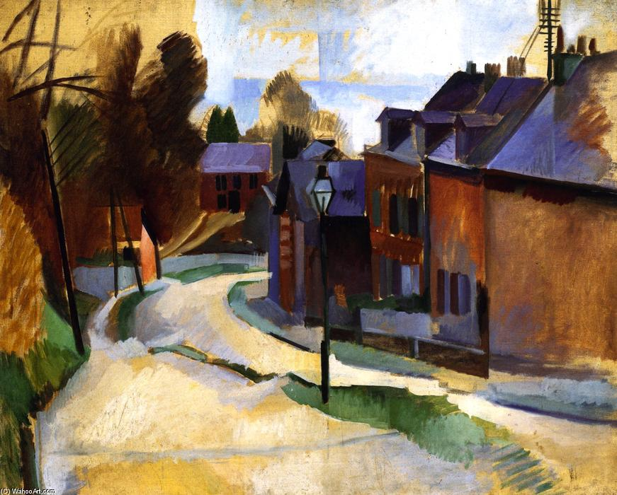 Road in Laon, Oil On Canvas by Robert Delaunay (1885-1941, France)