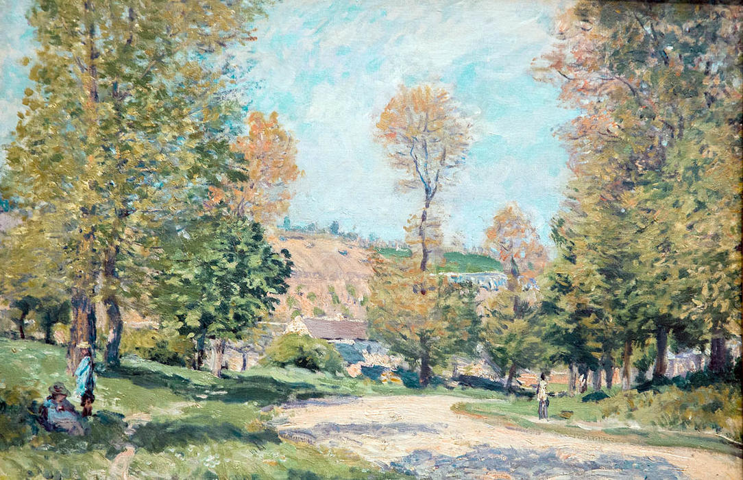 Road to Louveciennes, 1875 by Alfred Sisley (1839-1899, France) | Museum Art Reproductions | ArtsDot.com