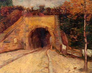 Vincent Van Gogh - Roadway with Underpass (also known as The Viaduct)