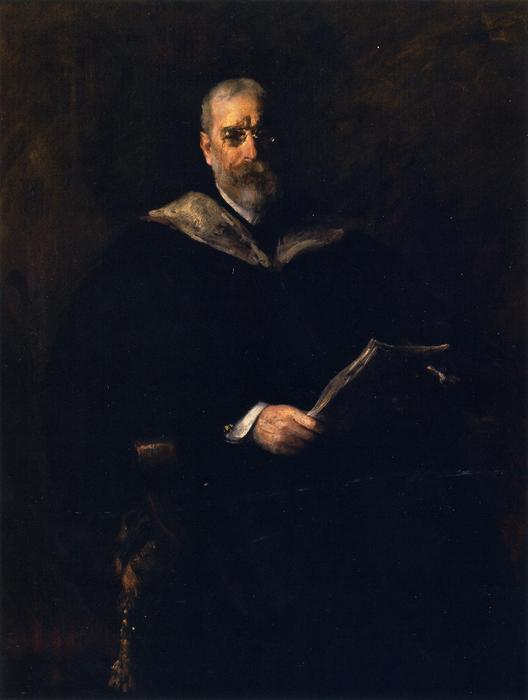 Robert Underwood Johnson, Oil On Canvas by William Merritt Chase (1849-1916, United States)