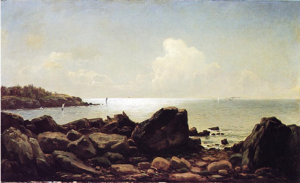 Rocky Inlet, Maine, 1883 by George Hetzel (1826-1899, France) | ArtsDot.com