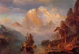 Albert Bierstadt - Rocky Mountains