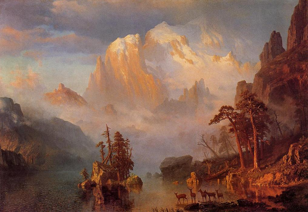 Rocky Mountains, 1863 by Albert Bierstadt (1830-1902, Germany) | Oil Painting | ArtsDot.com