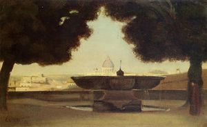 Jean Baptiste Camille Corot - Rome - The Fountain of the Academie de France