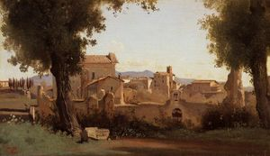 Jean Baptiste Camille Corot - Rome - View from the Farnese Gardens, Morning