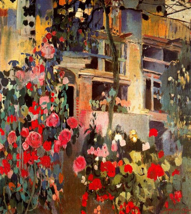 Rosas by Joaquin Mir Trinxet (1873-1940, Spain)