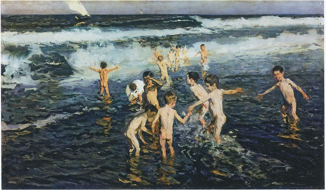 Sad Inheritance - Study (also known as Beach Rascals), Oil On Canvas by Joaquin Sorolla Y Bastida (1863-1923, Spain)