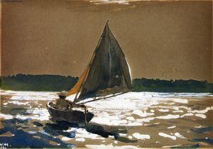 Winslow Homer - Sailing by Moonlight