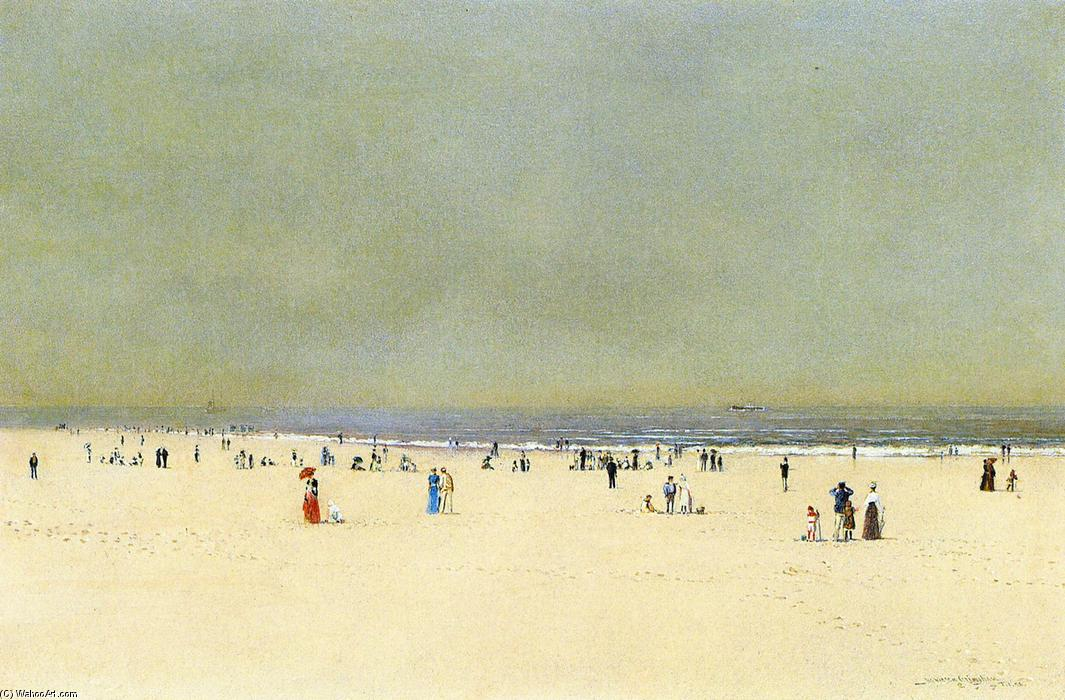 Sand, Sea and Sky: A Summer Fantasy, Oil On Panel by John Atkinson Grimshaw (1836-1893, United Kingdom)