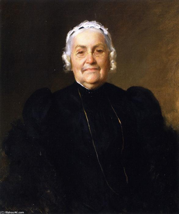 Sarah Redwood Parrish, Oil On Canvas by William Merritt Chase (1849-1916, United States)
