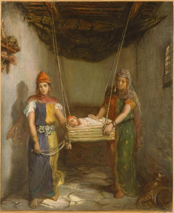 Scene In The Jewish Quarter Of Constantine (also known as Two Jewish Women of Constantine), 1851 by Théodore Chassériau (1819-1856, Dominican Republic) | Art Reproduction | ArtsDot.com