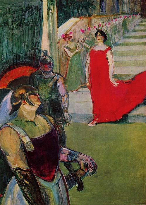 Scenes from 'Messaline' at the Bordeaux Opera, Oil On Canvas by Henri De Toulouse Lautrec (1864-1901, France)