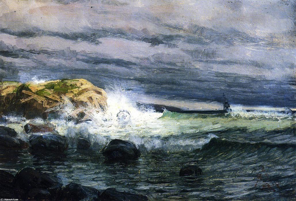 Seascape - Jetty, Painting by Henry Ossawa Tanner (1859-1937, United States)