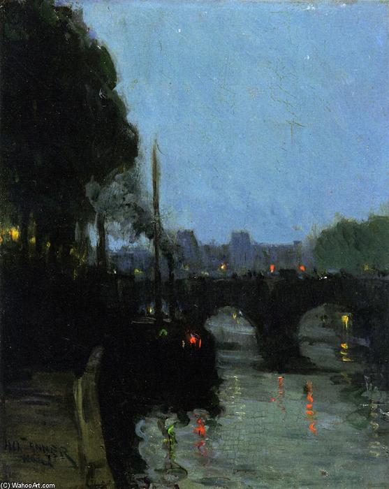 The Seine - Evening, Oil On Canvas by Henry Ossawa Tanner (1859-1937, United States)