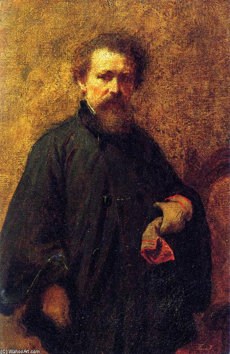 Self Portrait, Oil On Canvas by Jonathan Eastman Johnson (1824-1906, United Kingdom)