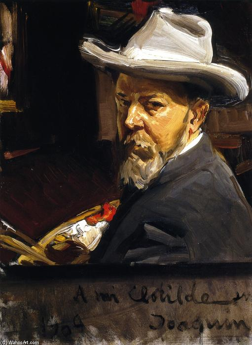 Self Portrait, Oil On Canvas by Joaquin Sorolla Y Bastida (1863-1923, Spain)