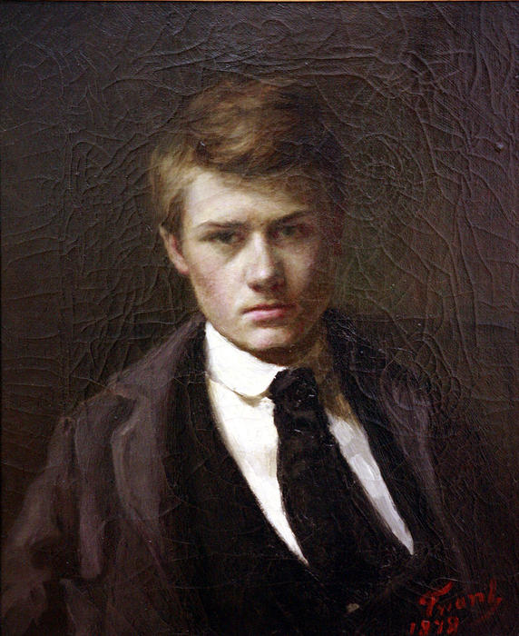 Self portrait, 1878 by Émile Friant (1863-1932, France)