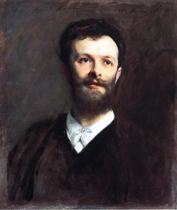Self Portrait, Oil On Canvas by William Gilbert Gaul (1855-1919, United States)
